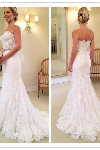 Mermaid Wedding Dress,Bridal Dresses,Weddings,Bridal Dresses 2017,Lace Wedding Dresses,White Wedding Dresses,Mermaid Wedding Dress,Wedding Dress 2017